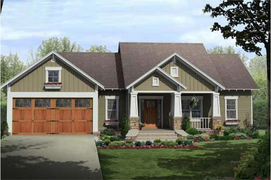 Craftsman home plan (ThePlanCollection: #141-1081)