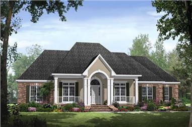 4-Bedroom, 2750 Sq Ft Acadian Home Plan - 141-1082 - Main Exterior
