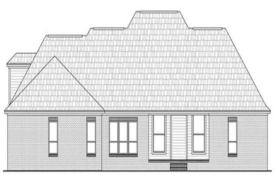 Home Plan Rear Elevation of this 4-Bedroom,2750 Sq Ft Plan -141-1082