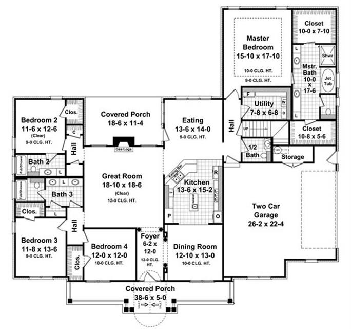 4 Bedrm, 2750 Sq Ft Acadian House Plan #141-1082