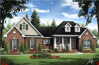3-Bedroom, 1800 Sq Ft Country House Plan - 141-1084 - Front Exterior