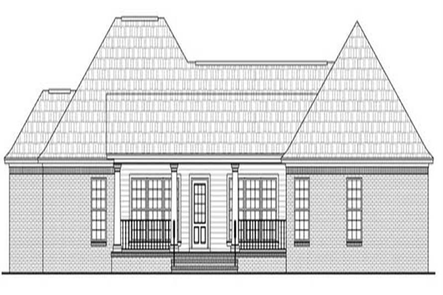 Home Plan Rear Elevation of this 3-Bedroom,1800 Sq Ft Plan -141-1084