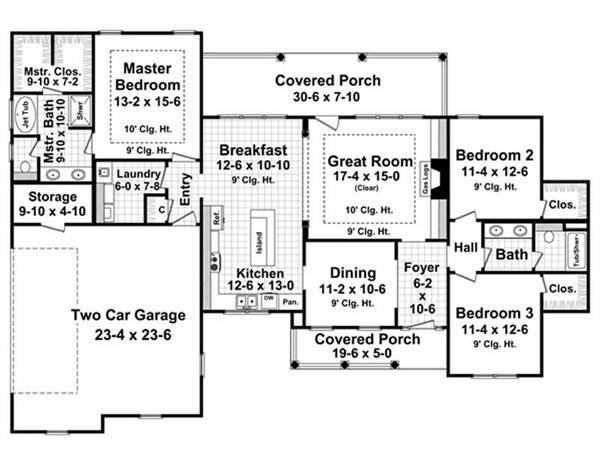 Floor Plan First Story for HPG-1800-6