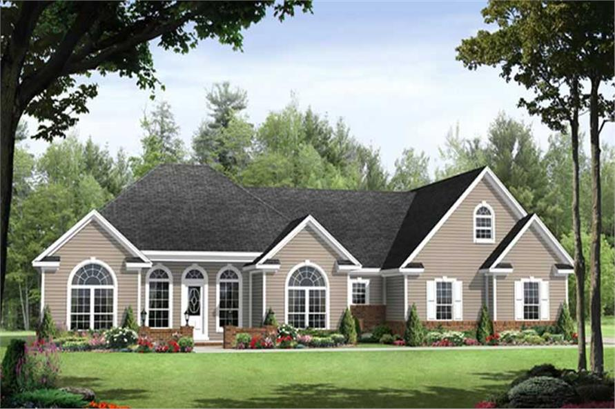 3-Bedroom, 1992 Sq Ft Country Home Plan - 141-1085 - Main Exterior