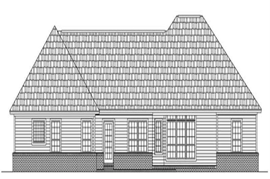 Home Plan Rear Elevation of this 3-Bedroom,1992 Sq Ft Plan -141-1085