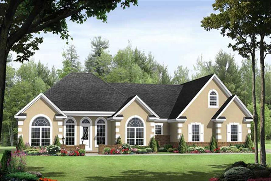 3-Bedroom, 1955 Sq Ft Country Home Plan - 141-1086 - Main Exterior