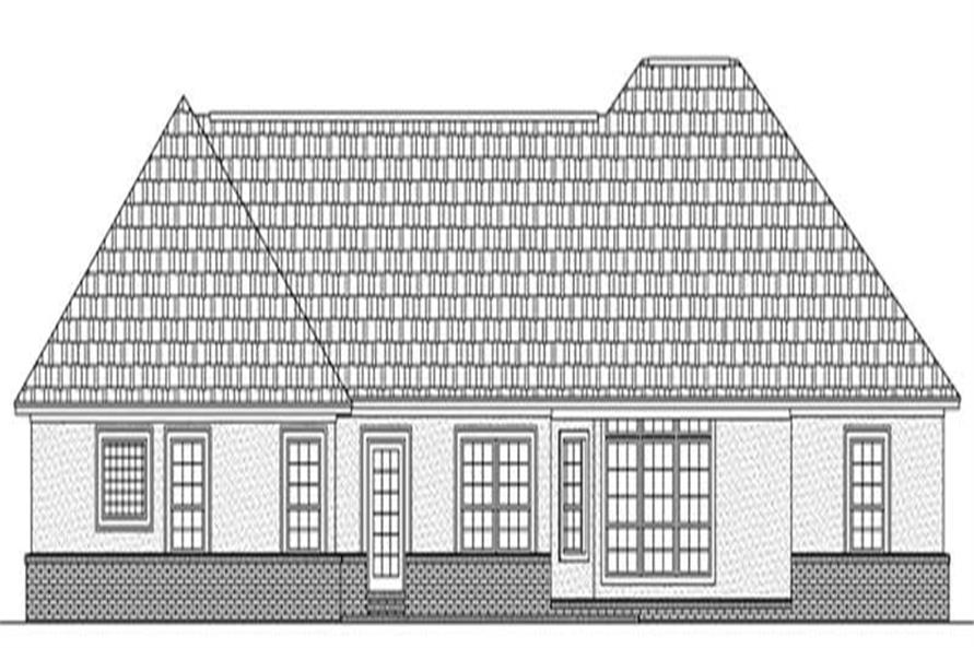 Home Plan Rear Elevation of this 3-Bedroom,1955 Sq Ft Plan -141-1086