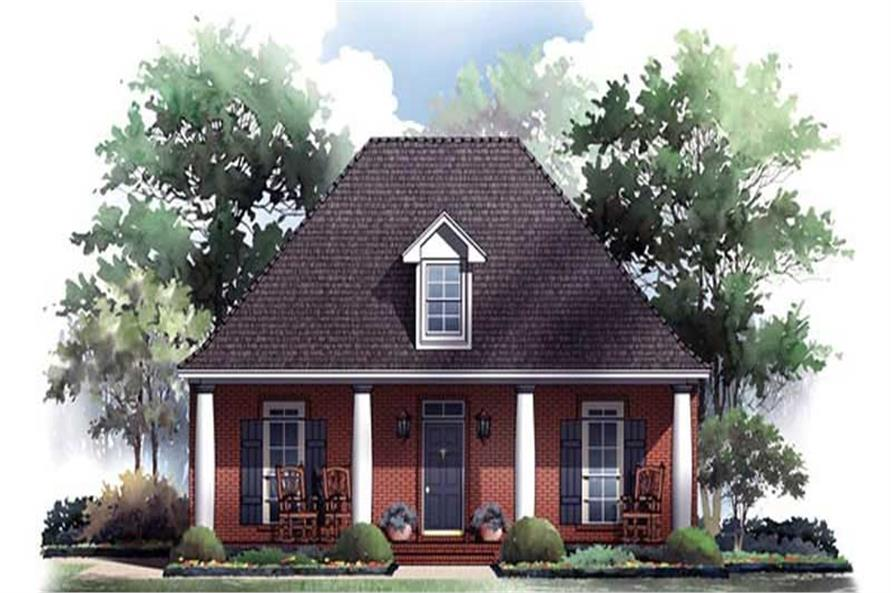 3-Bedroom, 1733 Sq Ft Country Home Plan - 141-1087 - Main Exterior