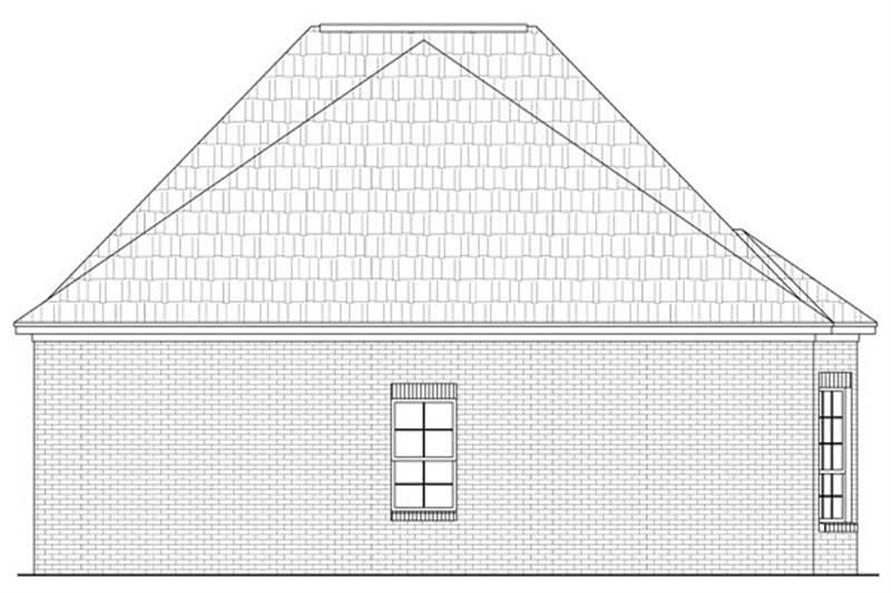 House Plan HPG-1733-1 Rear Elevation