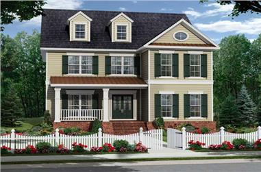 4-Bedroom, 2570 Sq Ft Southern Home Plan - 141-1093 - Main Exterior