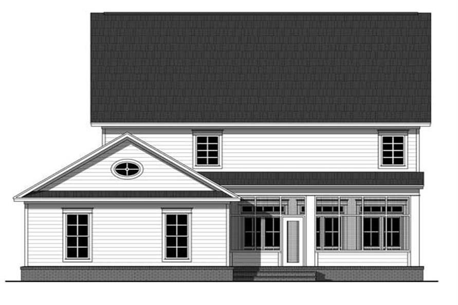 Home Plan Rear Elevation of this 4-Bedroom,2570 Sq Ft Plan -141-1093