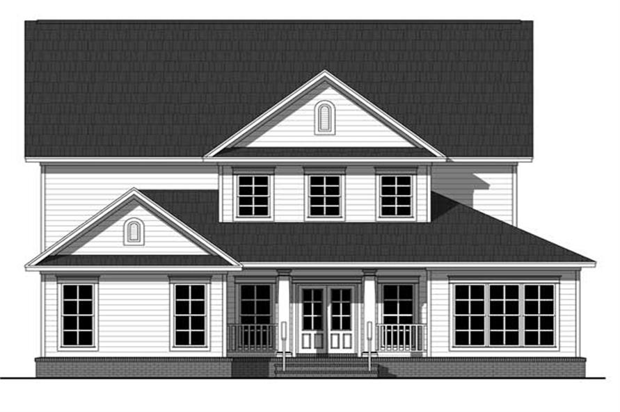 Home Plan Rear Elevation of this 4-Bedroom,2510 Sq Ft Plan -141-1094