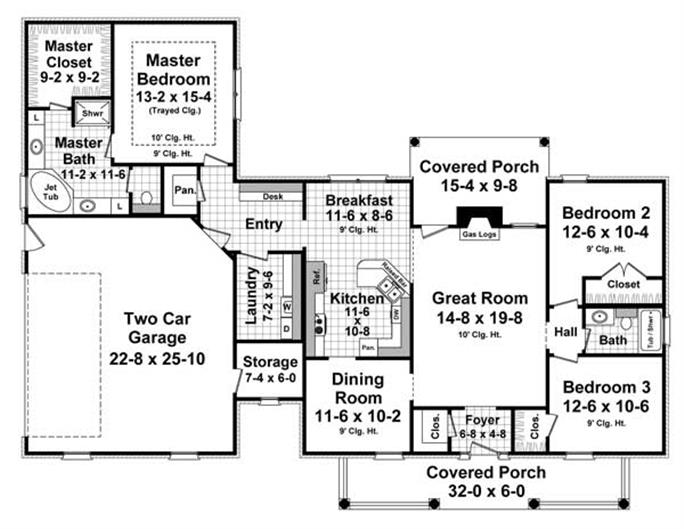 French House Plans Home Design - 6 bedroom country house plans