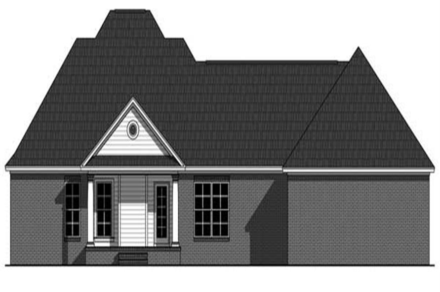 Home Plan Rear Elevation of this 3-Bedroom,1804 Sq Ft Plan -141-1095