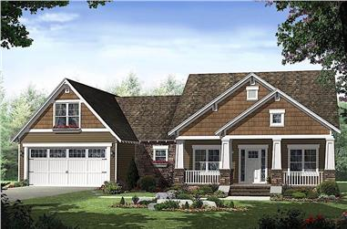 3-Bedroom, 1619 Sq Ft Craftsman Home - Plan #141-1096 - Main Exterior