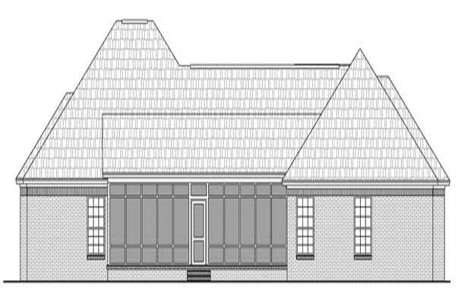 Home Plan Rear Elevation of this 4-Bedroom,2500 Sq Ft Plan -141-1097