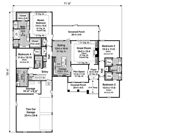 141-1097 house plan first floor