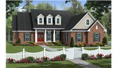 This image shows this Houseplan from the front.