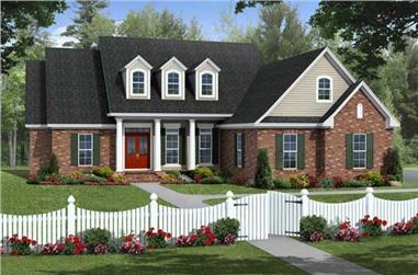 4-Bedroom, 2203 Sq Ft Cape Cod Home Plan - 141-1098 - Main Exterior