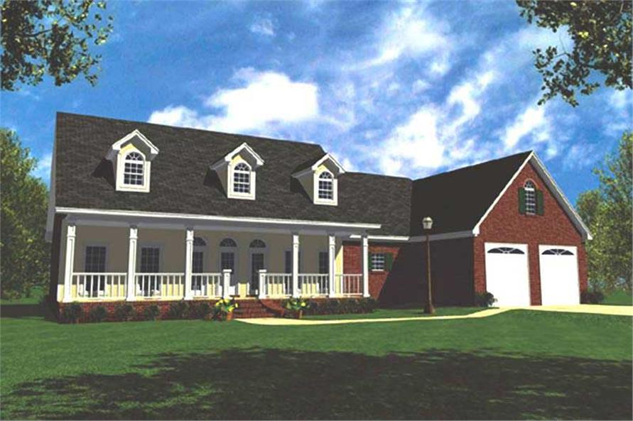 3-Bedroom, 2138 Sq Ft Ranch Home Plan - 141-1100 - Main Exterior