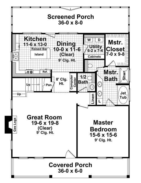 3 bedrm 1900 sq ft country house plan 141 1101