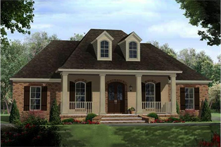4-Bedroom, 2218 Sq Ft Acadian Home Plan - 141-1102 - Main Exterior