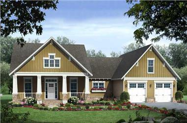This is a very pretty elevation of these Craftsman Houseplans.