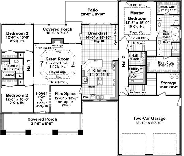 141-1103: Floor Plan Main Level