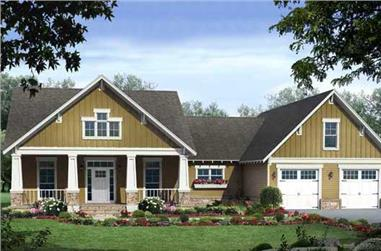 3-Bedroom, 2108 Sq Ft Country House Plan - 141-1103 - Front Exterior