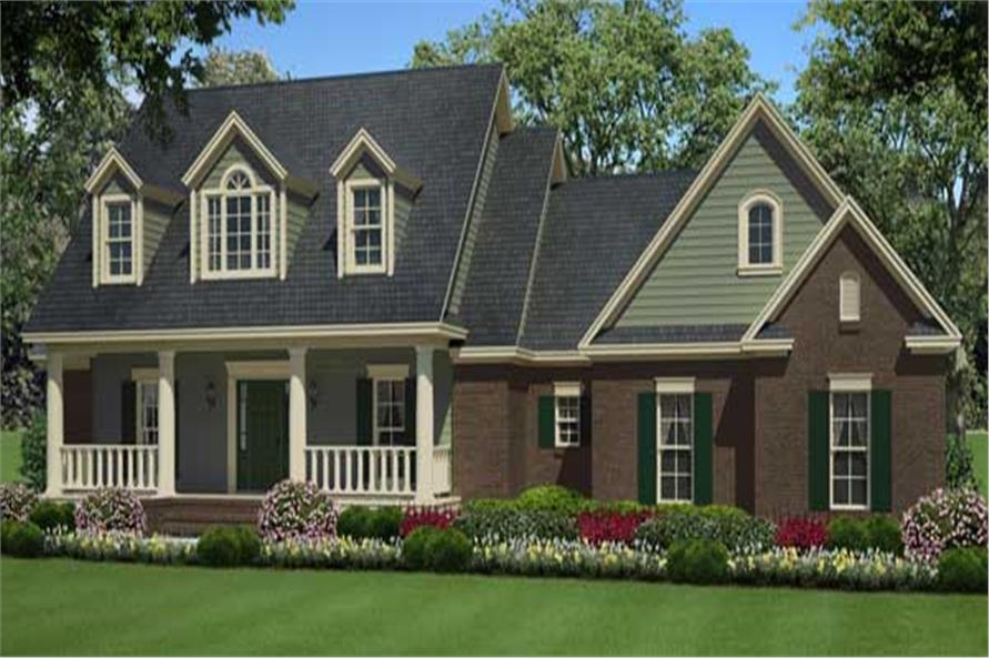 And this is a lovely CG image showing the front elevation of these Country Homeplans.