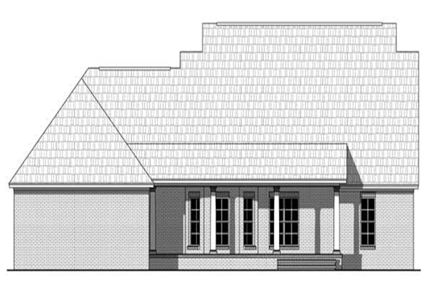 Home Plan Rear Elevation of this 3-Bedroom,1934 Sq Ft Plan -141-1105