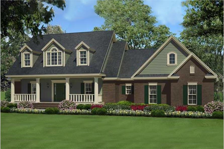 3-Bedroom, 1934 Sq Ft Country House Plan - 141-1105 - Front Exterior