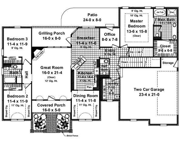 Home Plan 24792 additionally 1950 Style House Plans further Tattoo Floor Plans likewise Three Bedroom Cottage also Split Level House Plans From The House Designers. on 1955 ranch house plans