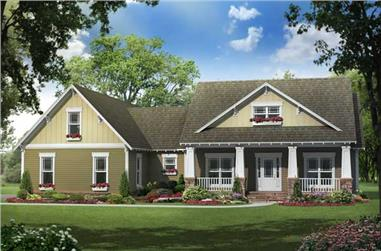 4-Bedroom, 2100 Sq Ft Country House Plan - 141-1110 - Front Exterior