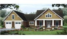 This is a computer rendering of these Craftsman Homeplans.
