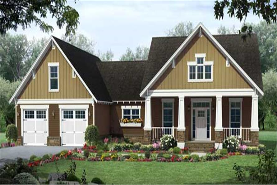 3-Bedroom, 1902 Sq Ft Country Home Plan - 141-1113 - Main Exterior