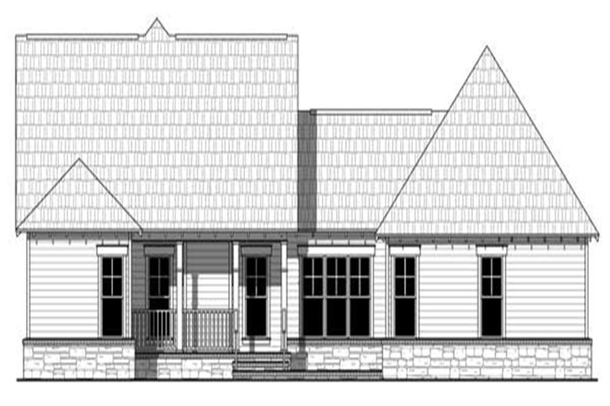 Home Plan Rear Elevation of this 3-Bedroom,1902 Sq Ft Plan -141-1113