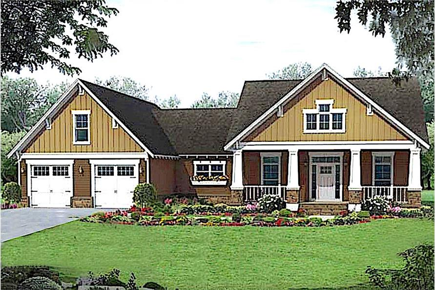 3-Bedroom, 1902 Sq Ft Country Home - Plan #141-1113 - Main Exterior