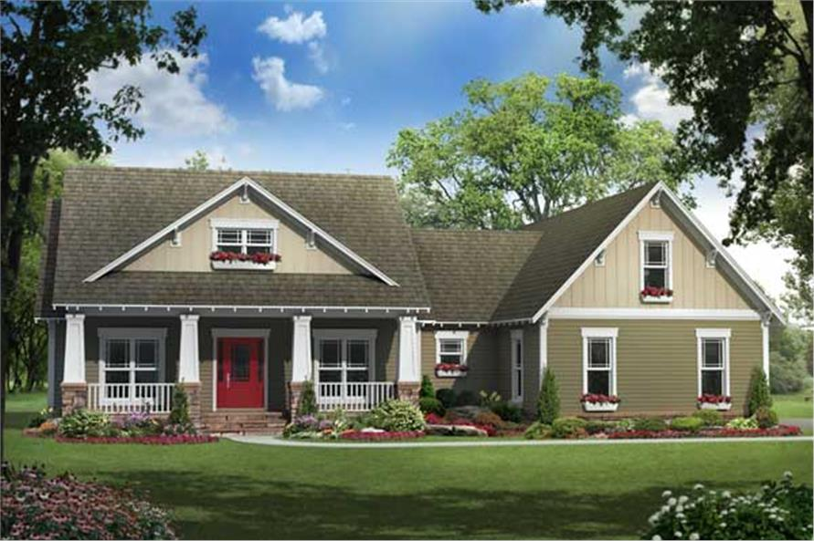 3-Bedroom, 1919 Sq Ft Country Home Plan - 141-1114 - Main Exterior