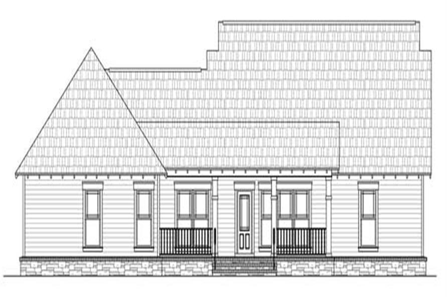 141 1114 home plan rear elevation - 1919 House Plans