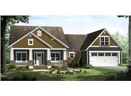 Here is a charming rendering of these Craftsman Home Plans.