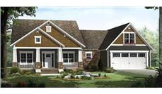 Charming rendering of this Craftsman Home Plan.