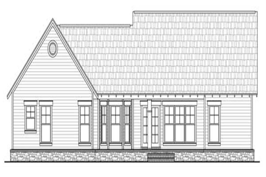 Home Plan Rear Elevation of this 3-Bedroom,1816 Sq Ft Plan -141-1115