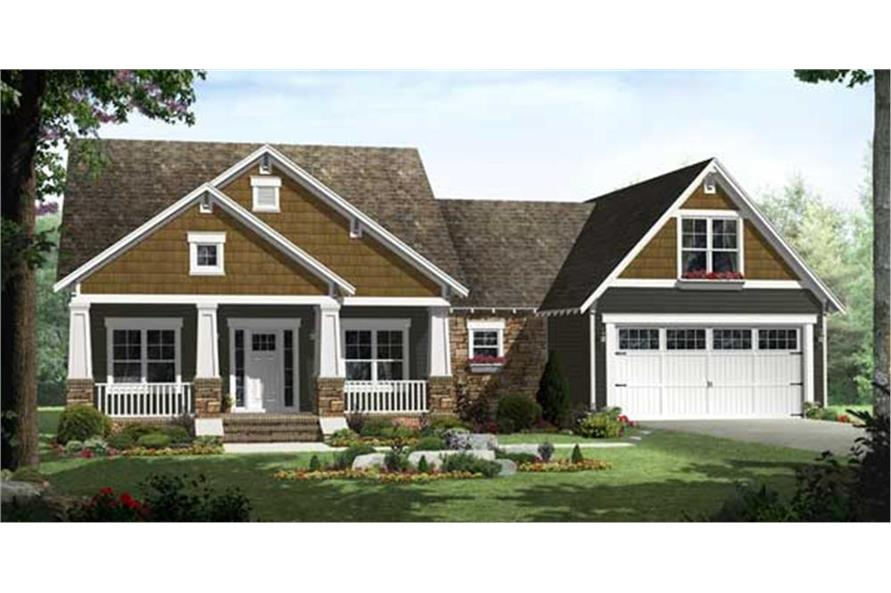 Home Plan Front Elevation of this 3-Bedroom,1816 Sq Ft Plan -141-1115