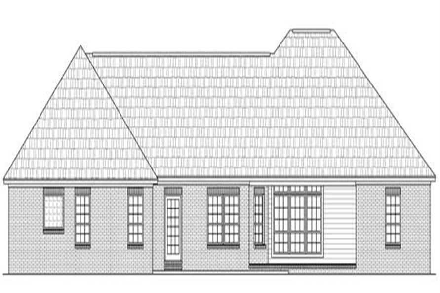 Home Plan Rear Elevation of this 3-Bedroom,1955 Sq Ft Plan -141-1116