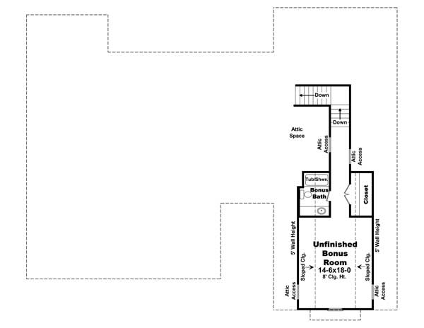 4 bedrm 2400 sq ft country house plan 141 1117 for Floor plans with bonus room