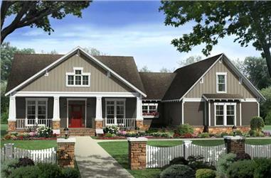 Front elevation of Country home (ThePlanCollection: House Plan #141-1117)