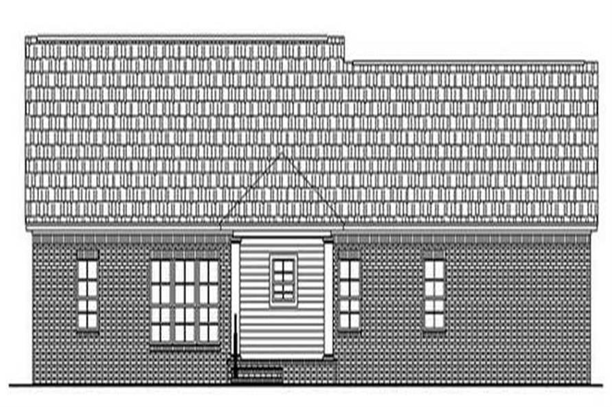 Home Plan Rear Elevation of this 3-Bedroom,1802 Sq Ft Plan -141-1119