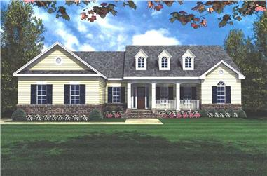 3-Bedroom, 2001 Sq Ft European Home - Plan #141-1120 - Main Exterior