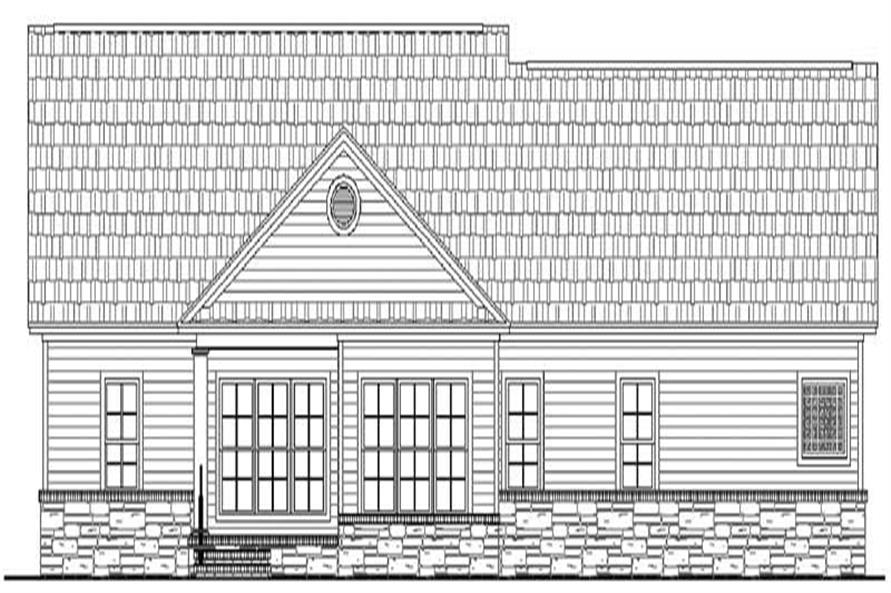 Home Plan Rear Elevation of this 3-Bedroom,2001 Sq Ft Plan -141-1120